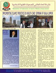 FIMA E-Newsletter December 2009 - Federation of Islamic Medical ...