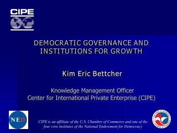 Presentation outline - CIPE Development Institute