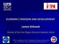 ECONOMIC FREEDOM AND DEVELOPMENT James Shikwati