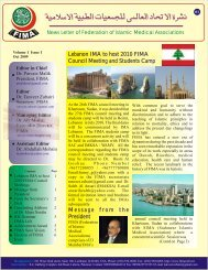 FIMA E-Newsletter October 2009 - Federation of Islamic Medical ...
