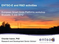 ENTSO-E and R&D activities - Futured