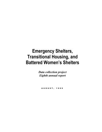 Emergency Shelters, Transitional Housing, and Battered Women's ...