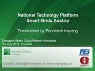 National Technolgy Platform Smart Grids Austria - Futured