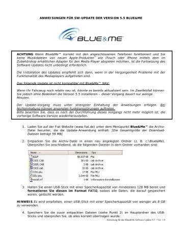 Anweisungen für das Software-Update Version 5.5 .pdf - Fiat