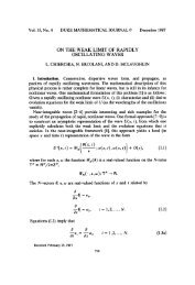 On the weak limit of rapidly oscillating waves - Dipartimento di ...