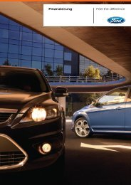 Finanzierung Feel the difference - Autohaus Krapf
