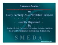Dairy Farming As a Profitable Business Jointly Organized By - UVAS