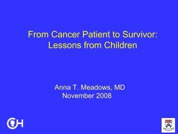 From Cancer Patient to Survivor - Abramson Cancer Center
