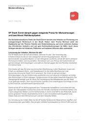 SP Stadt Zürich kämpft gegen steigende Preise für Mietwohnungen ...