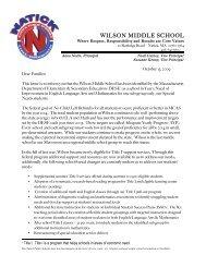 Parent AYP/MCAS Letter - Natick Public Schools