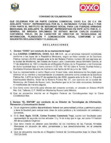 CONVENIO DE COLABORACiÓN QUE CELEBRAN POR ... - Issfam
