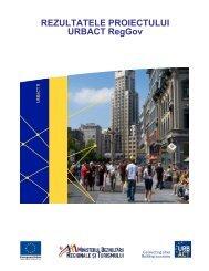 REZULTATELE PROIECTULUI URBACT RegGov - Infocooperare