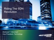 Conference Debate Session II – SDN – Extreme Networks - NetEvents