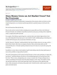 Does Money Grow on Art Market Trees? Not - Cristin Tierney