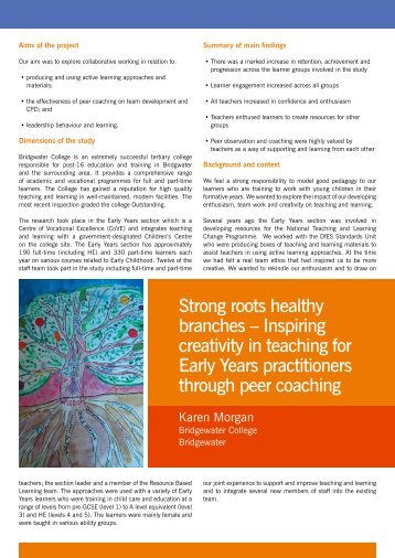 Inspiring creativity in teaching - National Teacher Research Panel