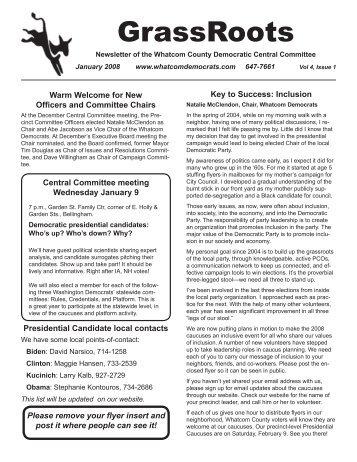 January - Whatcom County Democrats