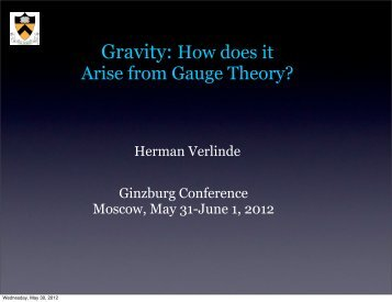 Gravity - Ginzburg Conference on Physics