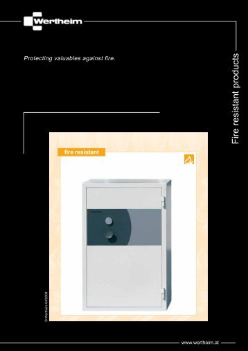 Fire resistant security products - Wertheim
