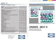 ZINSER - MCC 9 - Zinser Schweisstechnik GmbH