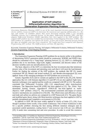 Application of Self-adaptive DifferentialEvolution Algorithm to ...