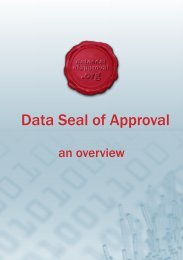 Data Seal of Approval - an overview - UK Data Archive