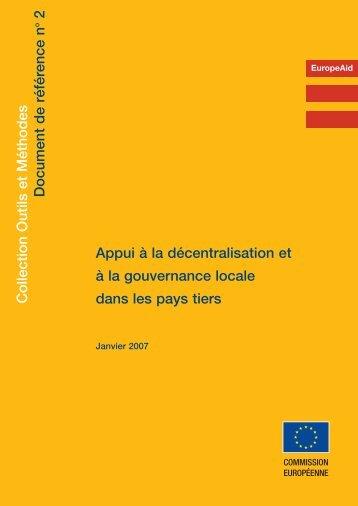 Appui à la décentralisation et à la gouvernance locale dans les pays ...