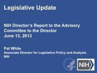 Legislative Update - Advisory Committee to the Director