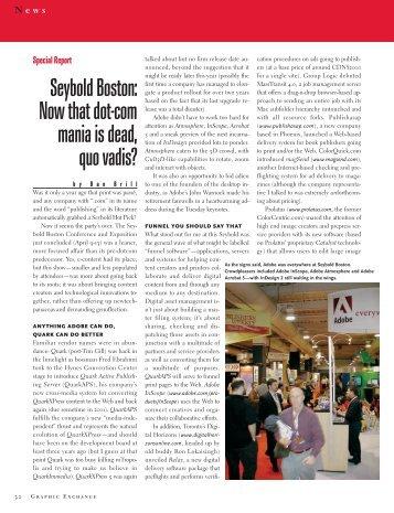 Seybold Boston - Graphic Exchange magazine