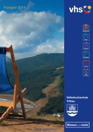 Programm Frühjahr 2014 - VHS Trittau
