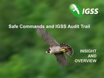 Safe Commands and IGSS Audit Trail