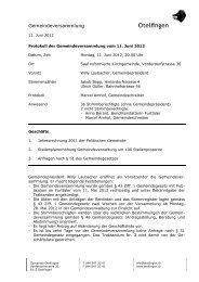 Gemeindeversammlung - Otelfingen