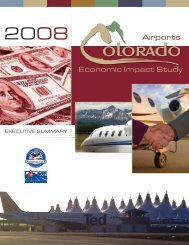 Economic Impact Study Airports - Colorado Aviation Business