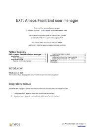 EXT: Ameos Front End user manager