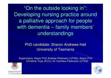 """""""On the outside looking in"""": Developing nursing practice around a ..."""