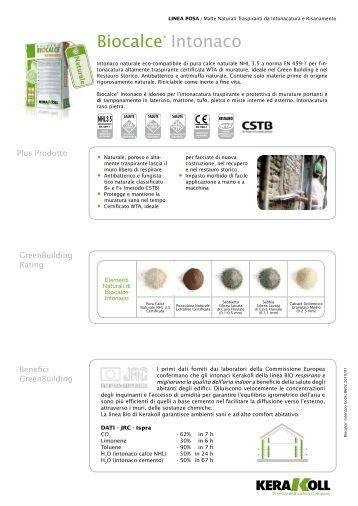 Biocalce intonaco fino restauranda vendita all for Biocalce intonaco