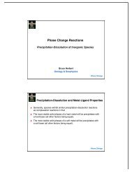 Phase Change Reactions - Department of Geology and Geophysics