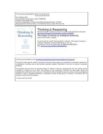 Thinking & Reasoning - UCLA Reasoning Lab