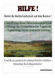 Plakat und Flyer RETTET DIE KNOTENLANDSCHAFT - BI-Knoten