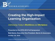 Creating the High-Impact Learning Organization - National ...