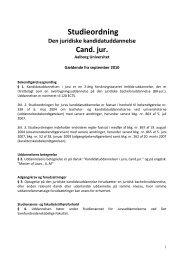 Kandidatuddannelsen i Jura, 2010 - Det Samfundsvidenskabelige ...