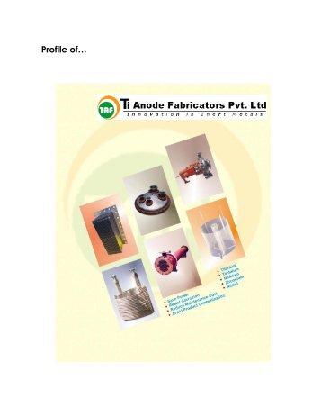 download the Corporate Profile - Ti Anode Fabricators