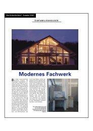 Modernes Fachwerk - FLOCK Haus