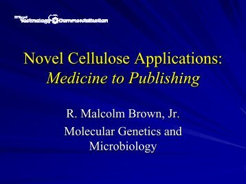 Novel Cellulose Applications - Office of Technology Commercialization