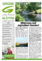 Oktober - Die Grünen – Burgenland