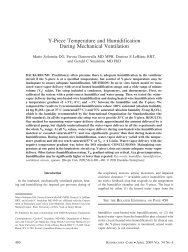 Y-Piece Temperature and Humidification During Mechanical ...