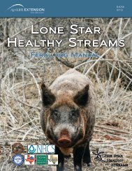 Lone Star Healthy Streams Feral Hog Manual - Texas Forages