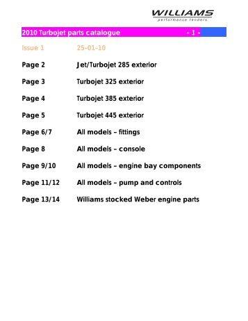 2010 Turbojet parts catalogue - 1 - Issue 1 25-01-10 Page 2 Jet ...
