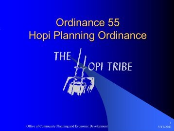 Ordinance 55 Hopi Planning Ordinance