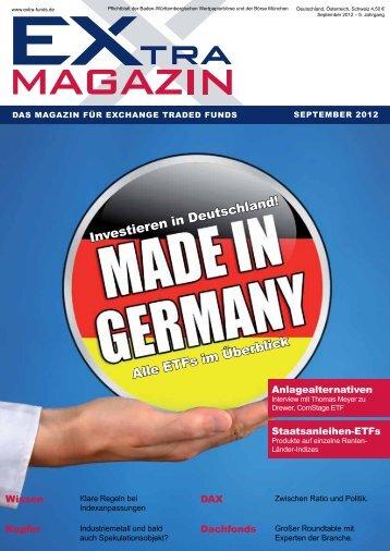 Alle ETFs im überblick - EXtra-Magazin