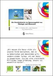 Die Druckindustrie im Spannungsfeld von Ökologie und Ökonomie ...